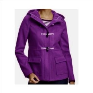 Old Navy hooded toggle plum coat size large